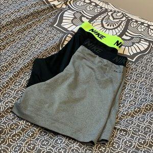 2 Nike Dri-Fit spandex shorts
